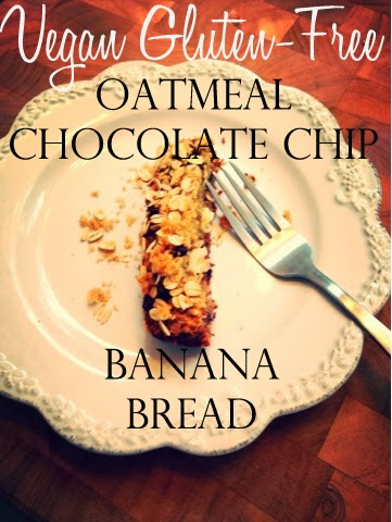 The Best Vegan & Gluten-Free Oatmeal Chocolate Chip Banana Bread