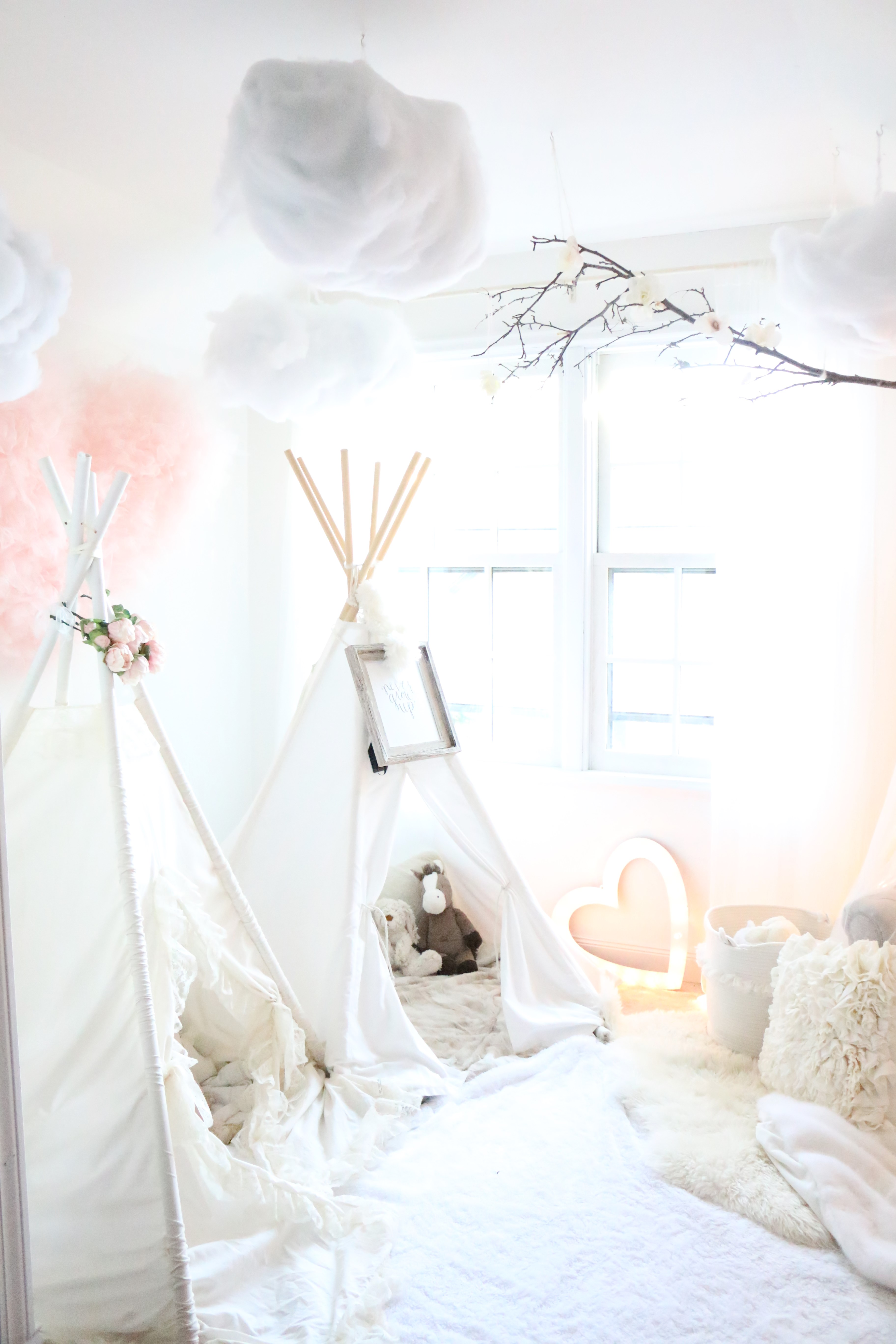 Tulle Canopy Diy Camden And Bellas Magical Playroom A Darling Daydream