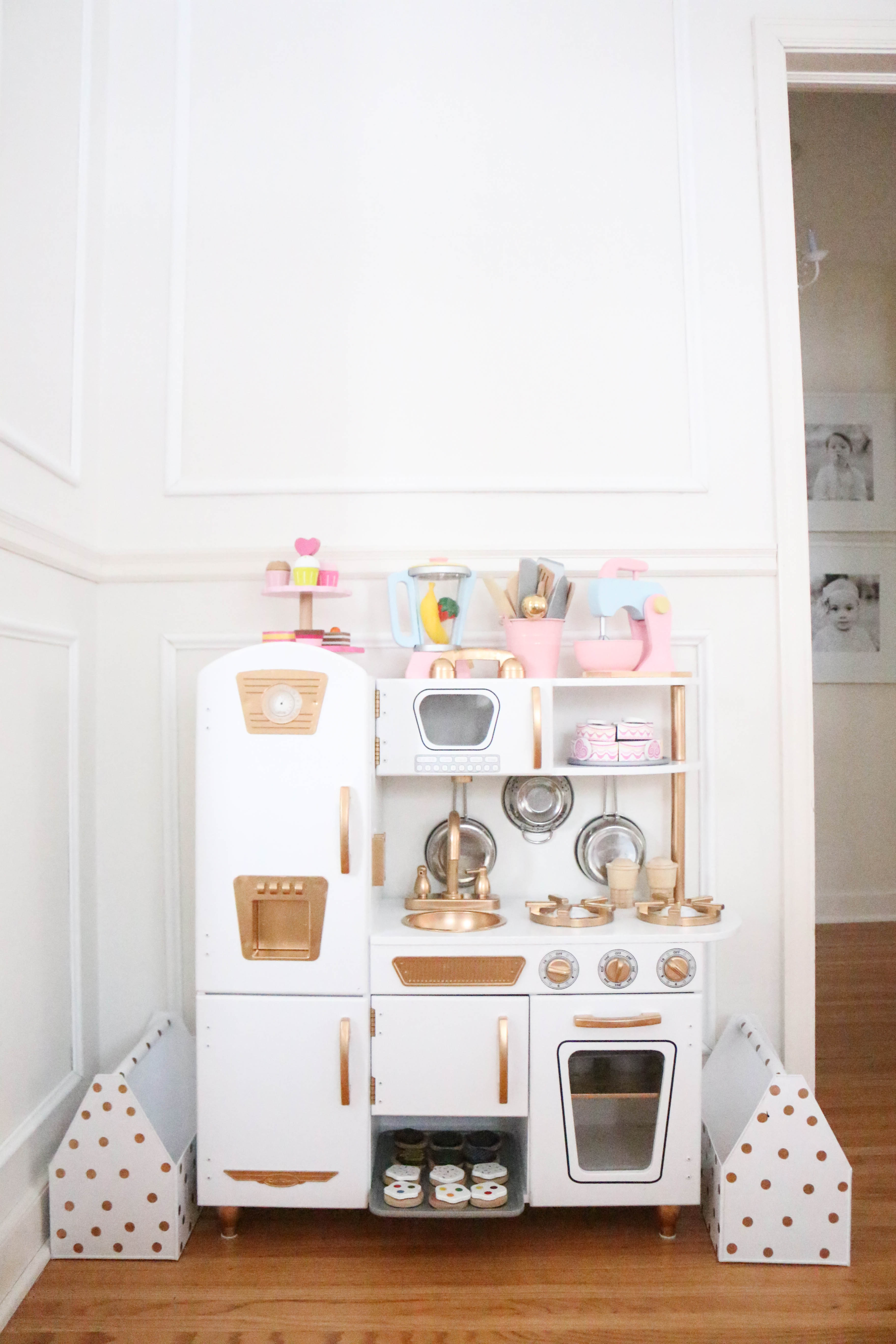 Diy Gold And White Kitchen A Darling Daydream