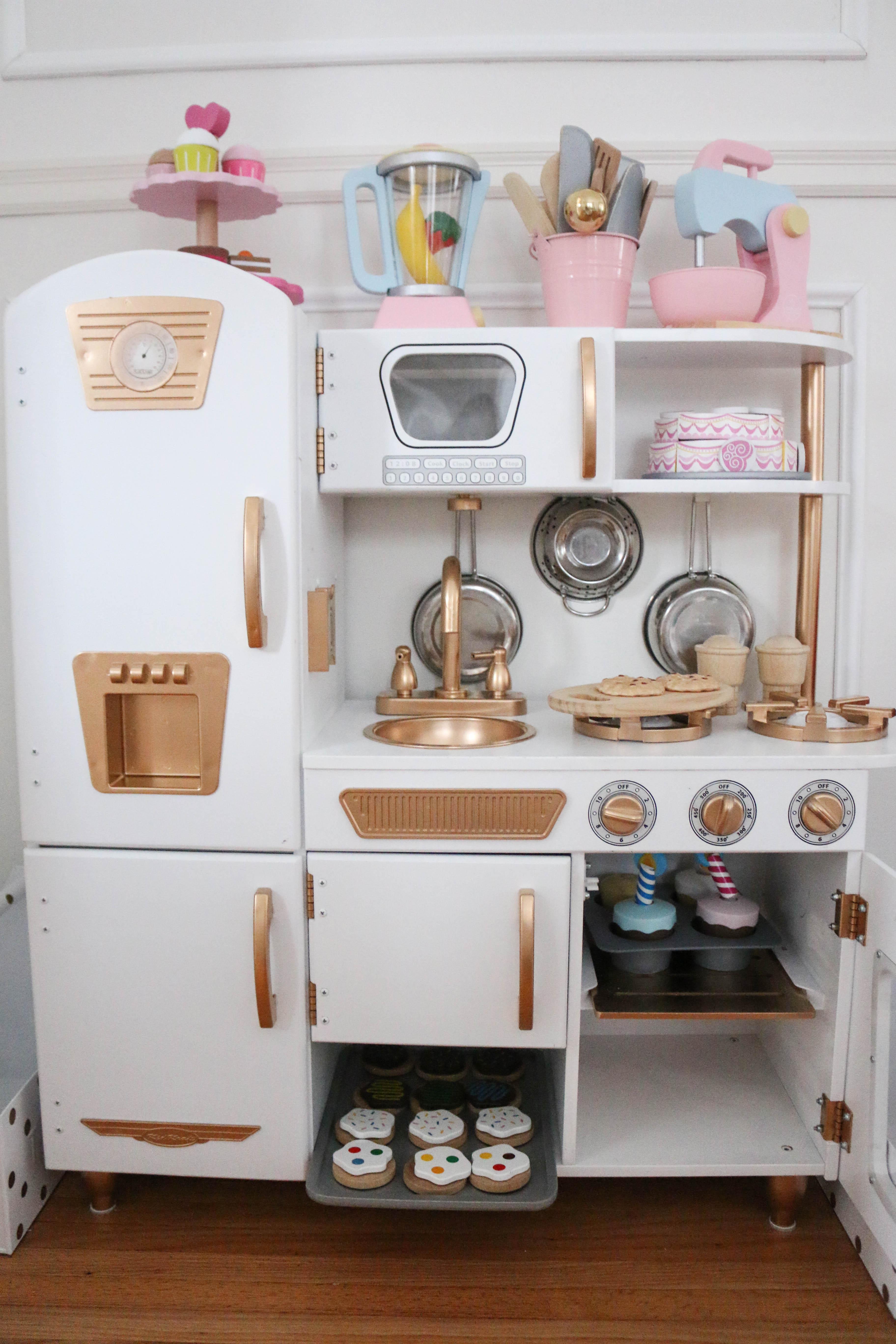 Enchanting Kidkraft Vintage Kitchen In Pink Adornment - Kitchen ...
