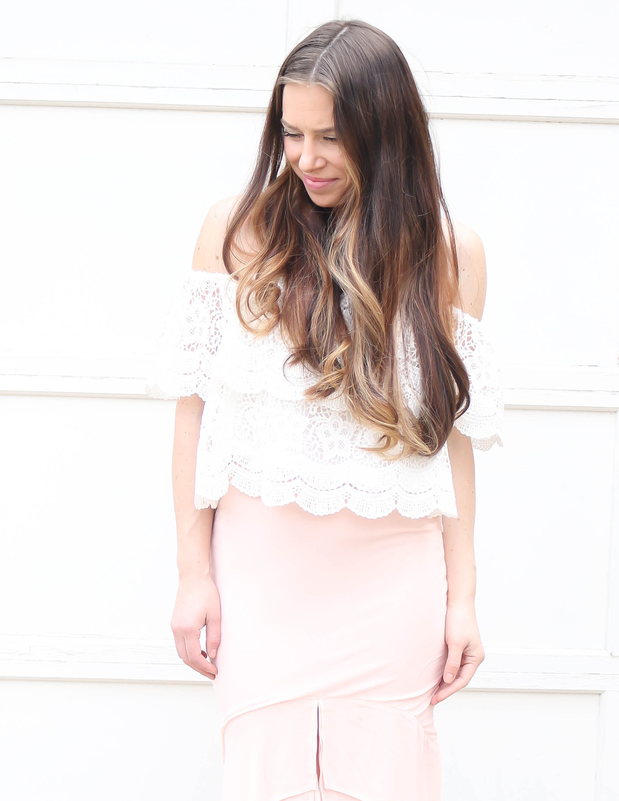 Blush Pink and Lace