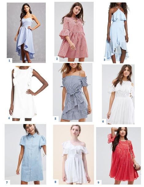 Red, White and Blue Dresses Under $60