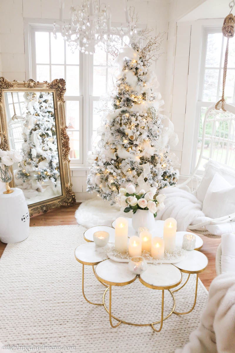 Flocked-Christmas-Tree-Brass-Mirror-Christmas-Decor-White-Christmas_-6
