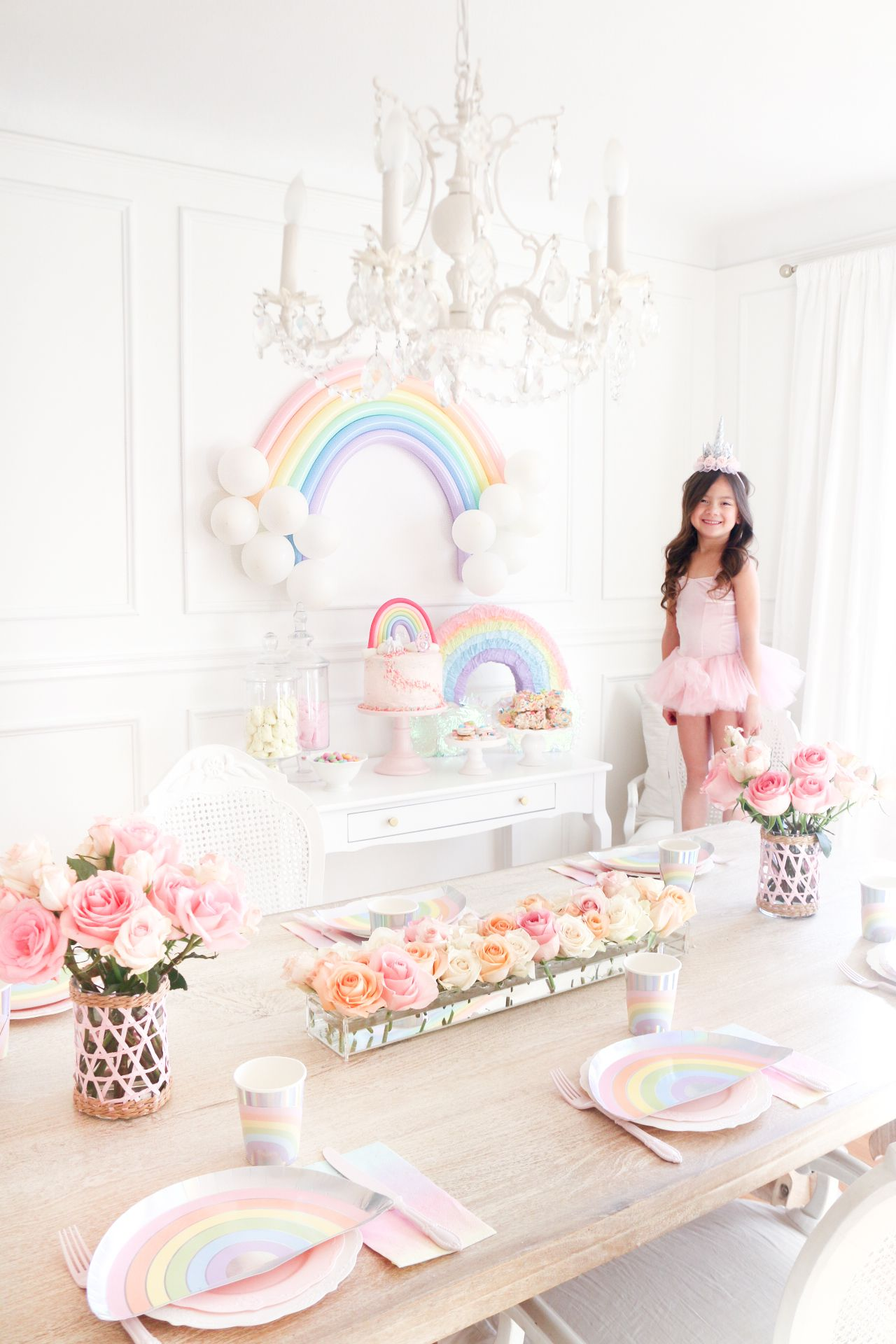 Bella's Rainbow Birthday Party